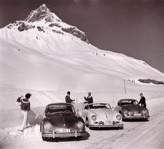 Porsche 356-550-RSK-Speedster-Spyder Porsche 356, Porsche Carrera, Porsche Cars, Vintage Ski, Vintage Cars, Vintage Winter, Vintage Travel, Vintage Posters, Ski Racing