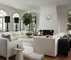 Breezy Black-And-White Living Room | House & Home