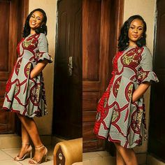 You can't tell me that these Ankara styles are not amazing, just look at the cuts, the style. Look at the way everything connects to bring out a African Print Dresses, African Print Fashion, Africa Fashion, African Fashion Dresses, African Dress, African Prints, African Outfits, Ankara Fashion, Ankara Wedding Styles