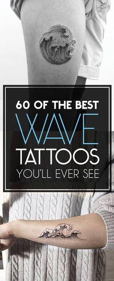 60 of The Best Wave Tattoo Designs   TattooBlend