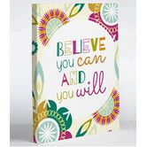 Found it at Wayfair - Believe You Can And You Will by Brandi Powell Graphic Art on Wrapped Canvas Canvas Wall Decor, Canvas Art, Challenges To Do, Motivational Wall Art, All Wall, Cool Walls, Metal Wall Art, Believe In You, Canvas Size