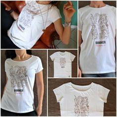 T-shirt 100% cotone con stampa digitale disponibile per donna e uomo. La stampa rappresenta uno dei miei astratti che ho chiamato Banaker. Banaker è la sintesi di Banalità e Kermesse!!  Disponibile nel mio shop online: www.etsy.com/it/shop/BANAKER  Per info: spanugianluca@yahoo.it