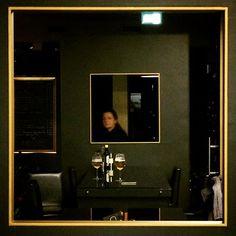 Ristorante Vincantiamo studioathesis.it #studioathesis #restaurant #frame #steel #black #gold #design #architecture #relax