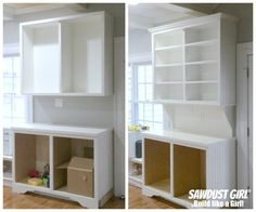 Installing crown moulding to cabinets and built-ins