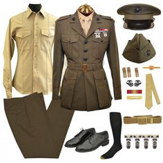 Package contains all the necessary components for marine Corps Male Officer Service Alpha uniform; Vintage Military Uniforms, Military Suit, Military Women, Military History, Marine Corps Uniforms, Marines Uniform, Ww2 Uniforms, Marine Shop, American Uniform