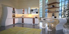 Luxury kitchen by Carpanelli Divider, Loft, Italy, Luxury, Bed, Kitchen, Furniture, Home Decor, Cooking