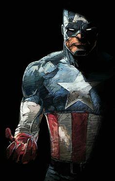 """cyberclays: """"Captain America - fan art by Dave Seguin """" Marvel Captain America, Ms Marvel, Capitan America Marvel, Hero Marvel, Marvel Comics Art, Marvel Heroes Characters, Marvel Comic Character, Comic Book Characters, Comic Books Art"""