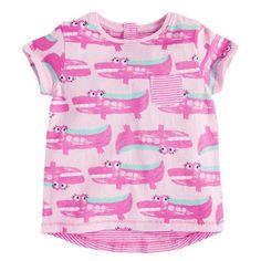 $4.09 (Buy here: https://alitems.com/g/1e8d114494ebda23ff8b16525dc3e8/?i=5&ulp=https%3A%2F%2Fwww.aliexpress.com%2Fitem%2F2017-New-Kids-Girls-baby-Summer-black-and-white-stripe-or-pink-and-white-striped-Fashion%2F32794348466.html ) Girls Boys  Kids baby Summer pink yellow crocodile Short sleeve T-shirt Tops newborn Clothes 12M-5Y  for just $4.09