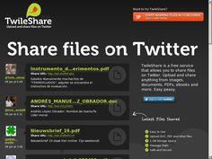 #twileshare Compartir varios tipos de Archivos (PDF, Documento, eBooks...) en Twitter