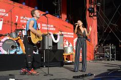 Pin for Later: Tons of Stars Teamed Up For a Good Cause at the Global Citizen Festival Chris Martin and Ariana Grande