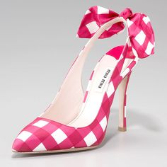gingham Miu Miu slingbacks --These are adorable...if only I could wear heels without tripping myself. *sigh*