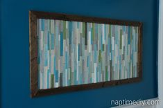 wood stick wall art - naptimediy.com I think a version of this is what I want above my mantel...