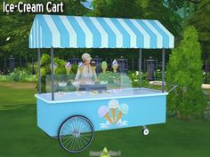Ice-Cream Stand by Sandy at Around the Sims 4 via Sims 4 Updates
