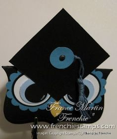Graduation Owl with Top Note Die... maybe a pillox box version would be cute??