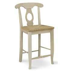 International Concepts Empire 24-inch Unfinished Wood Bar Stool