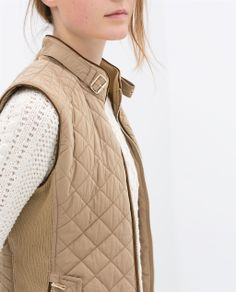 Image 4 of QUILTED WAISTCOAT WITH PIPING from Zara