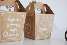Caja de chocolate para pascua estilo Hipster.  DIY Hispter Easter chocolate box