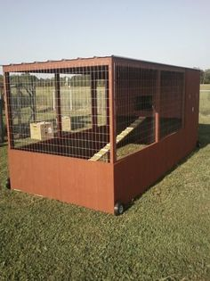 looks like it could be a really large chicken tractor
