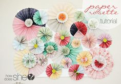 Ideas DIY y manualidades para decorar fiestas y cumpleaños Paper Rosettes, Paper Flowers, Paper Pinwheels, Diy Photo Backdrop, Photo Backdrops, Paper Backdrop, Photo Props, Cumpleaños Shabby Chic, Shabby Chic Birthday