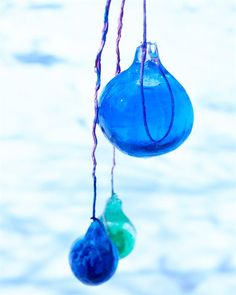 Frozen Colored Ice Ornaments by Dietlind Wolf