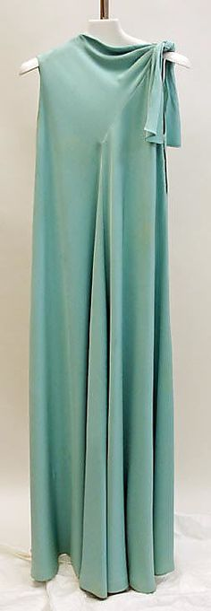 Evening Dress, Madame Grès (Alix Barton) (French, Paris 1903–1993 Var region): ca. 1968, French, silk.