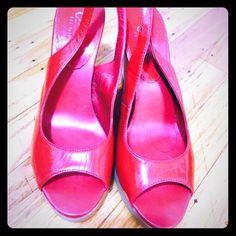 Red wedge shoes Used Red wedge shoes size 8 Chaps Shoes Wedges