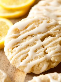 Sugared Lemon Crinkles with a Sweet Lemon Glaze