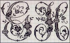 Милые сердцу штучки: рукоделие, декор и многое другое: Вышивка крестом: Алфавит из французского альбома XIX века (2)