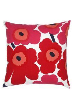 "Marimekko Marimekko Pieni Unikko 20"" Pillow Cover Red/Pink/White - KIITOSlife - 1"