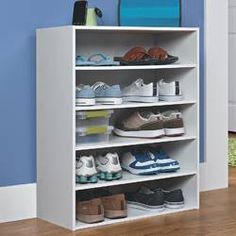 ClosetMaid 10 Pair Stackable Shoe Rack for sale online Shoe Storage Cabinet, Wall Storage, Cabinet Doors, Storage Spaces, Garage Storage, Shoe Rack Wayfair, Diy Shoe Rack, Shoe Racks, Diy Shoe Shelf