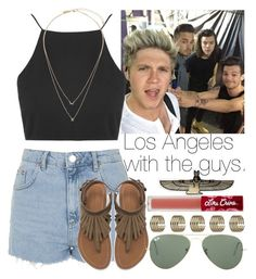 """Los Angeles with the guys."" by welove1 ❤ liked on Polyvore featuring Topshop, Zara, Ray-Ban and Lime Crime"