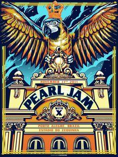 Una recopilacion de los mejores carteles de pearl jam