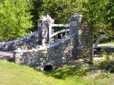 stone entry gate - Google Search