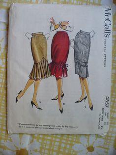 1950s trumpet skirt mccalls patterns | skirt patterns