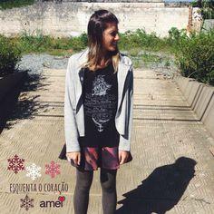 Esquenta o coração e abraça a alma❄️❤️ Dias frios @loja_amei  #lojaamei #muitoamor #saia #casaco #blusa #frio #diadesol #moda #outonoinverno