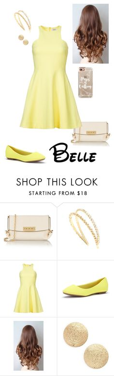 """Disney - Belle"" by briony-jae ❤ liked on Polyvore featuring ZAC Zac Posen, Miu Miu, Elizabeth and James, Nordstrom and Casetify"