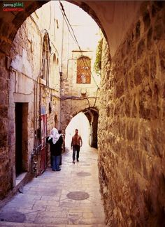 The old streets of Al Qudes -Palestine