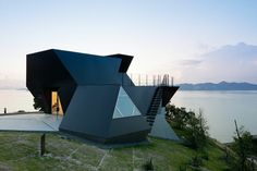 Toyo Ito Museum of Architecture, as well as the nearby Iwata Museum, are architectural presences rather than buildings.