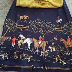 J crew skirt J crew equestrian silk skirt. Beautiful J crew Skirts A-Line or Full