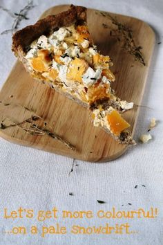 pumpkin and feta tart. it should be pumpkin, mango, and lago grape season all year round. Savory Pumpkin Recipes, Veggie Recipes, Fall Recipes, Vegetarian Cooking, Vegetarian Recipes, Cooking Recipes, Quiche, Comfort Food, Food For Thought