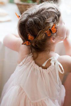 Butterflies for the flower girls