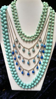 Seabreeze and Pacific necklaces