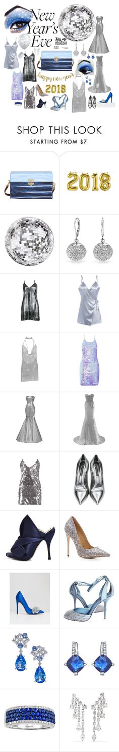 """""""New Years Eve 2018"""" by amberalew101 ❤ liked on Polyvore featuring Edie Parker, Cricut, Bling Jewelry, Paco Rabanne, Motel, Boohoo, Casadei, N°21, ASOS and Dolce&Gabbana"""