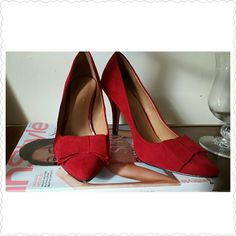 Apt 9 Red Bow high heels Red Bow Never worn , super cute Apt. 9 Shoes Heels