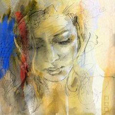 Por amor al arte: Anna Razumovskaya Figure Painting, Painting & Drawing, Painting Abstract, Acrylic Paintings, Abstract Landscape, L'art Du Portrait, Portrait Paintings, Art Paintings, Portraits