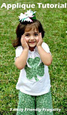 DIY St. Patrick's  : DIY Make A Fun St Patrick's Day Shamrock Shirt