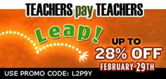 Calling all TPT teachers having a Leap Day Sale! Let's link together! Check it out!-Yvonne   sassyinsecond.blo...