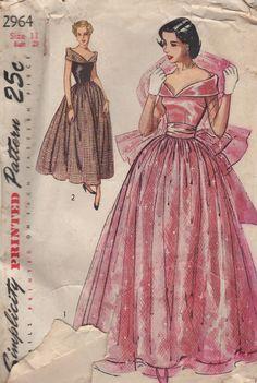 Simplicity 2964  Glamorous 1940s Dress Pattern  Size by NimbusArt, $35.00