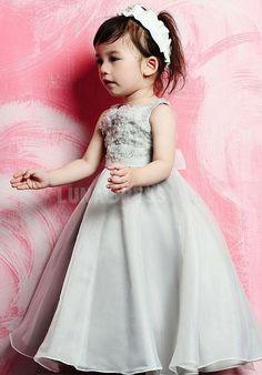 Informal Empire Organza Floor Length Ball Gown First Communion Dresses