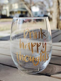 Brandy Glass, Wine And Beer, Happy Thoughts, Divorce, Silhouette Cameo, Breakup, Wine Glass, Lettering, Drink